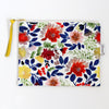 Large Zipper Pouch, Camila, blue