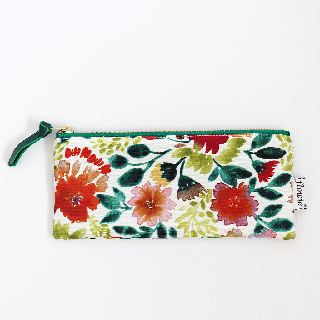Pencil case pouch, Camila, green