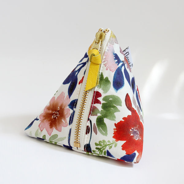 Triangle Zipper Pouch, Camila, blue