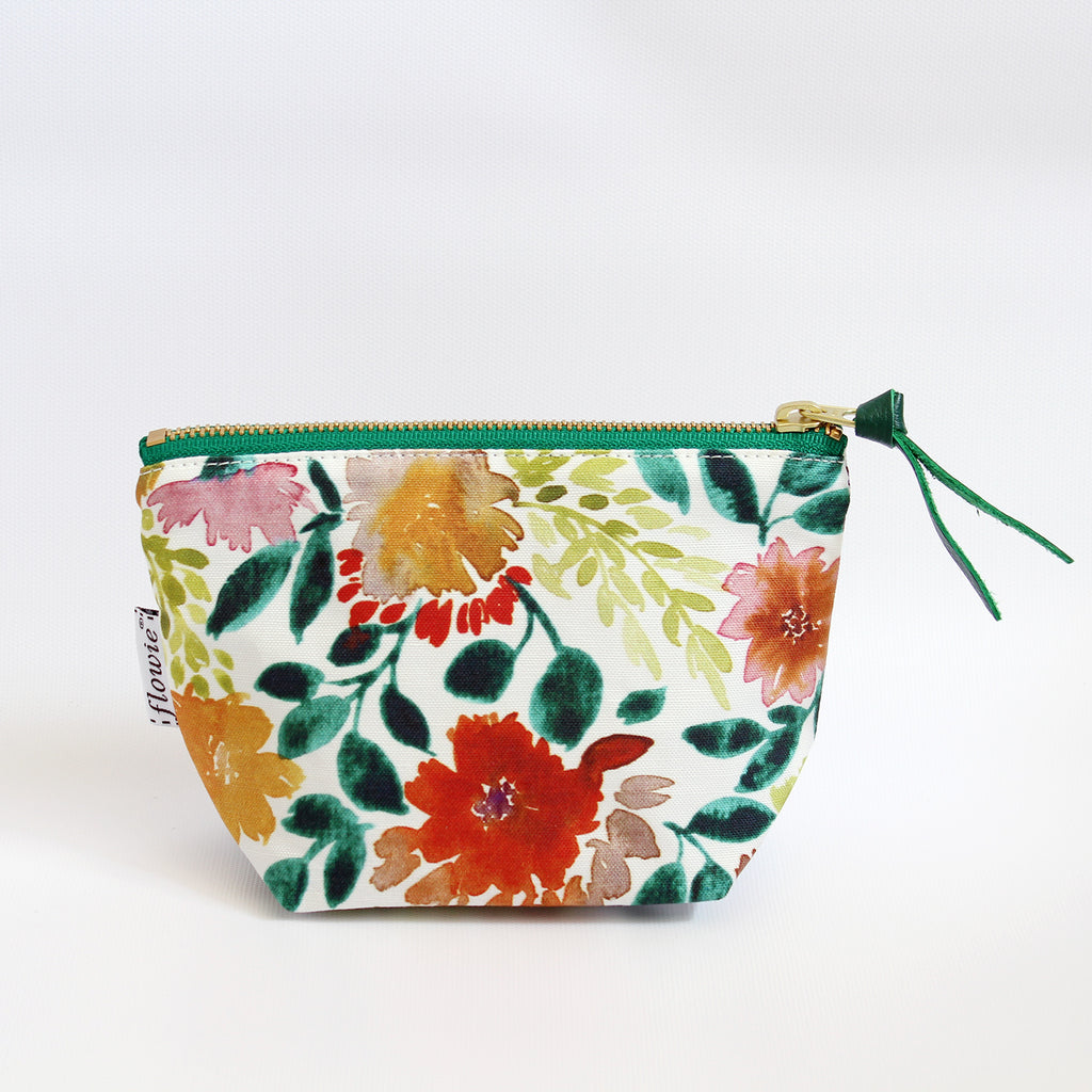 Zipper Pouch, Camila, green