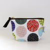 Zipper Pouch, Fancy circles