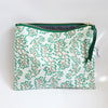 Large Zipper Pouch, Harper, teal