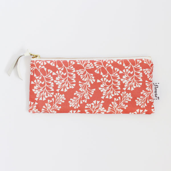 Pencil case pouch, Harper, coral
