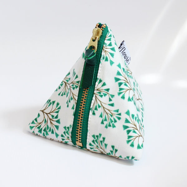 Triangle Zipper Pouch, Harper, teal