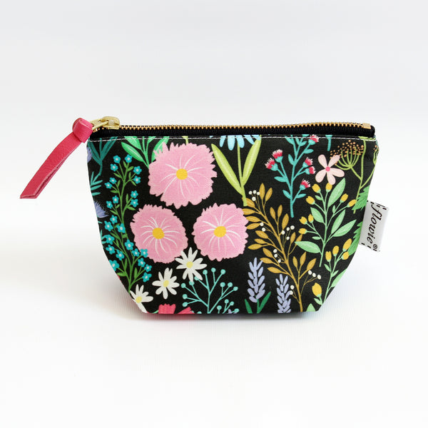 Zipper Pouch, Imaginary Field, Black