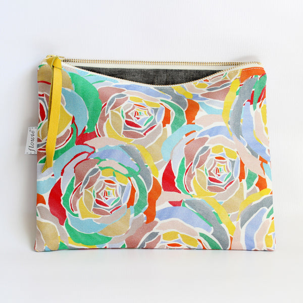 Large Zipper Pouch, Lively