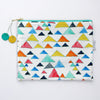 Large Zipper Pouch, Triangle