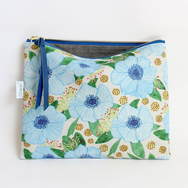 Large Zipper Pouch, Zoe
