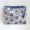 Large Zipper Pouch, Stella, pink/blue