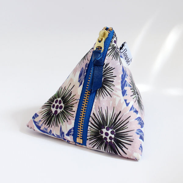Triangle Zipper Pouch, Stella, pink/blue