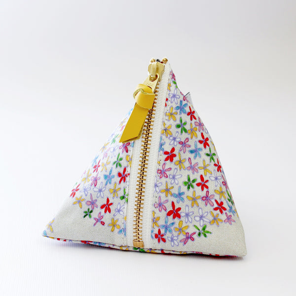 Triangle Zipper Pouch, Emma