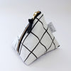Triangle Zipper Pouch, Grid