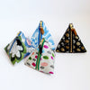 Triangle Zipper Pouch, Raining leaves