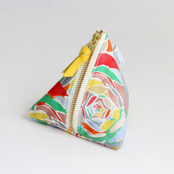 Triangle Zipper Pouch, Lively