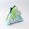 Triangle Zipper Pouch, Morning Glory