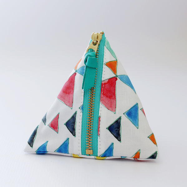 Triangle Zipper Pouch, Triangle