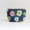 Zipper Pouch, Floral dots