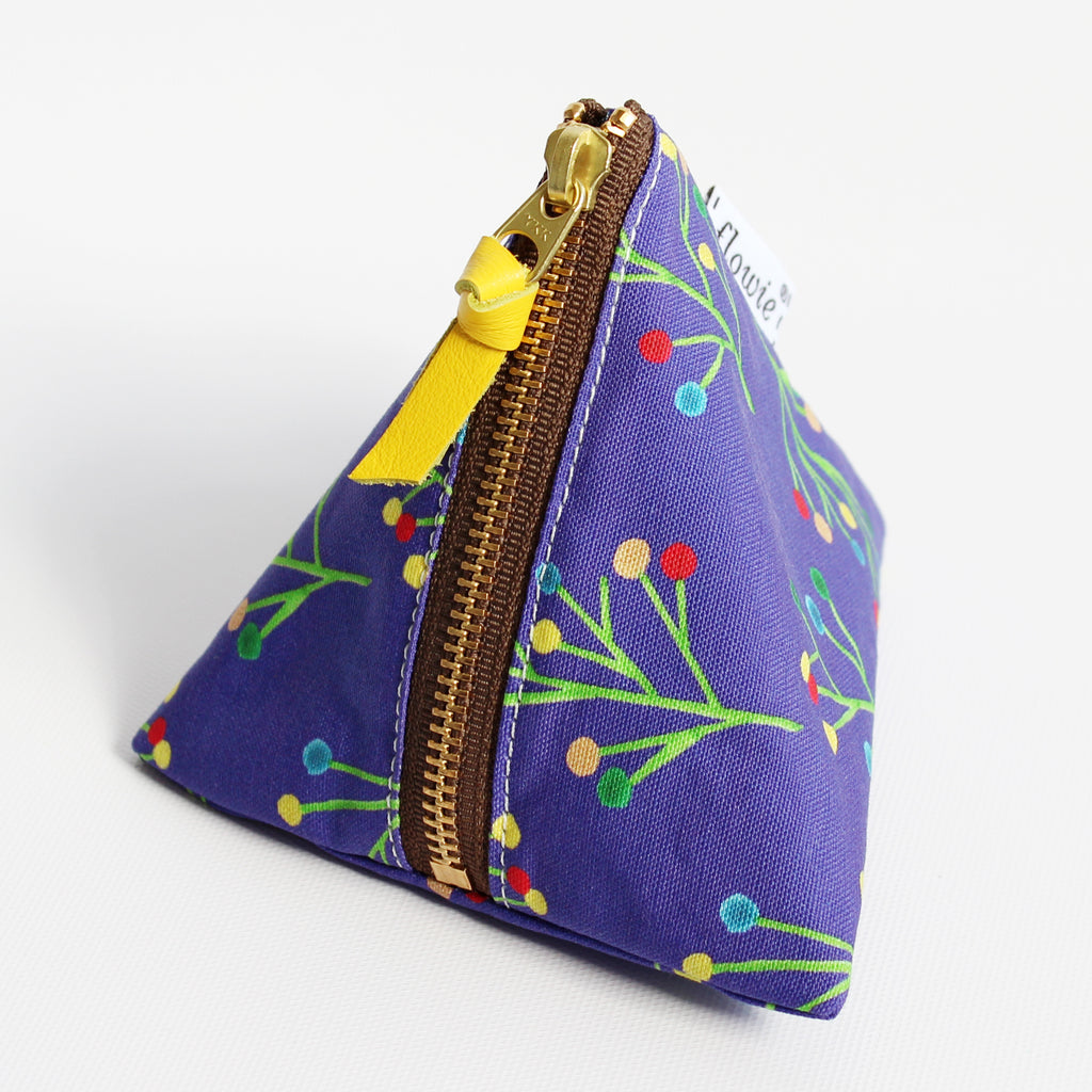 Triangle Zipper Pouch, Ava
