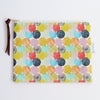 Large Zipper Pouch, Bubbles