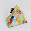 Triangle Zipper Pouch, Bubbles