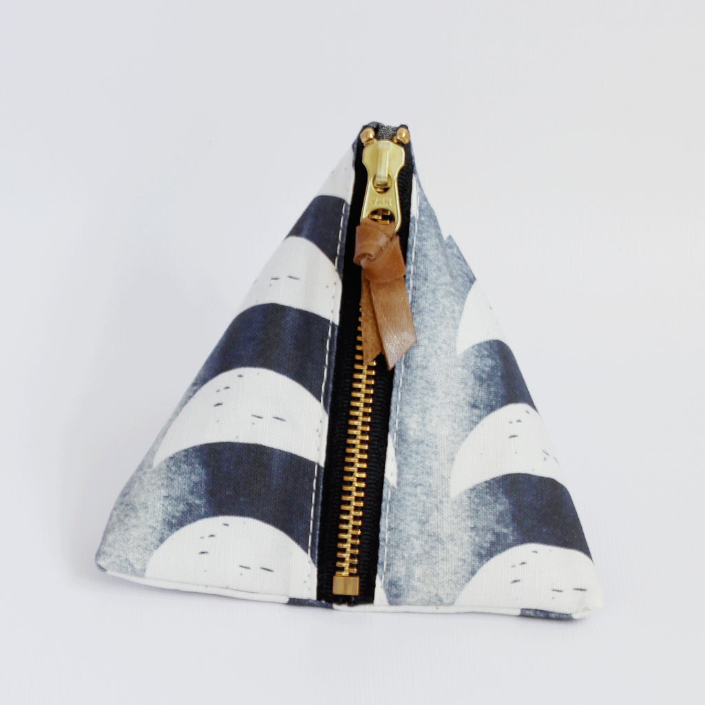 Triangle Zipper Pouch, Crescent