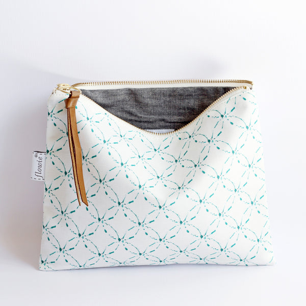 Large Zipper Pouch, Kate