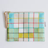 Large Zipper Pouch, Plaid
