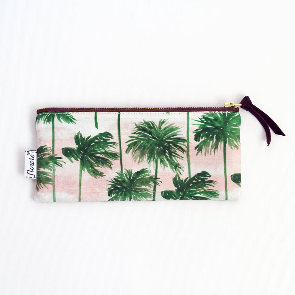 Pencil case pouch, Palm trees