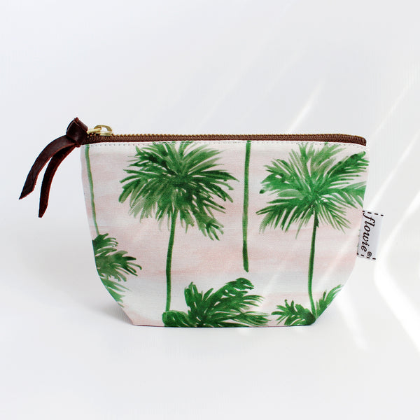 Zipper Pouch, Palm trees
