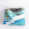 Large Zipper Pouch, Sea