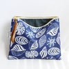 Large Zipper Pouch, Seashells