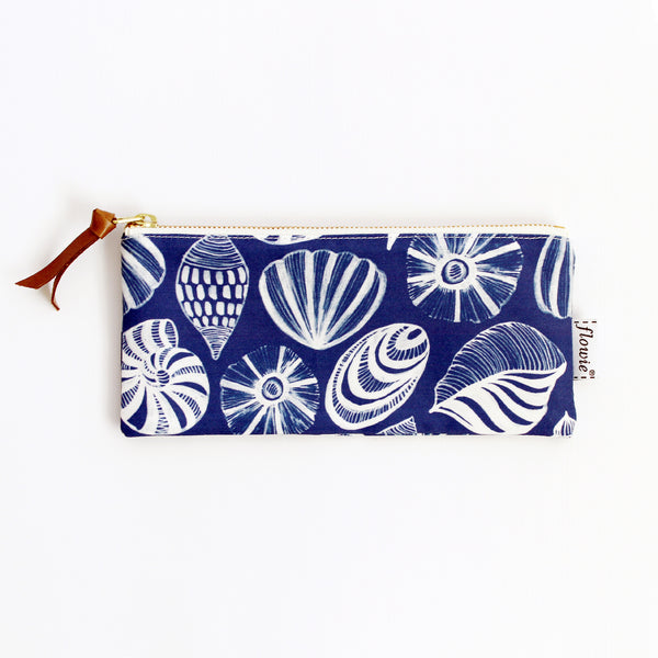 Pencil case pouch, Seashells