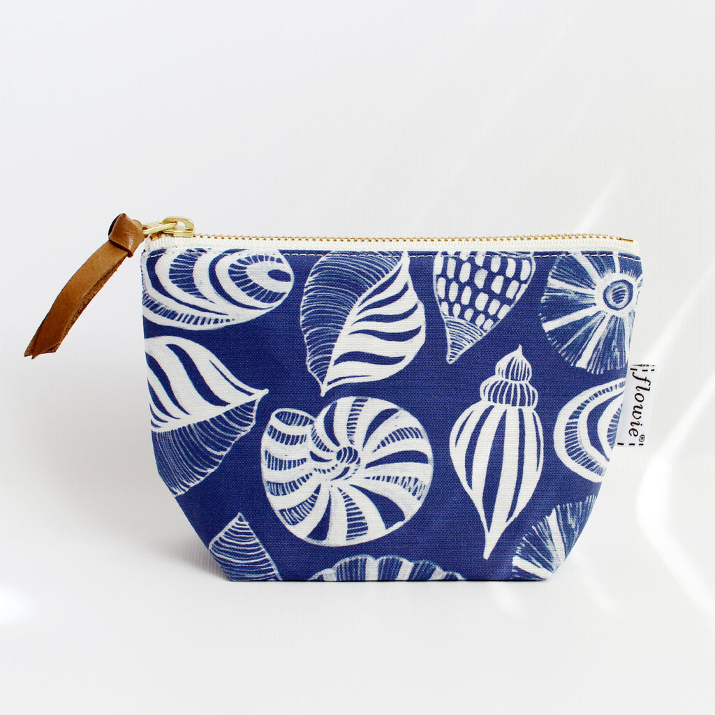 Zipper Pouch, Seashells