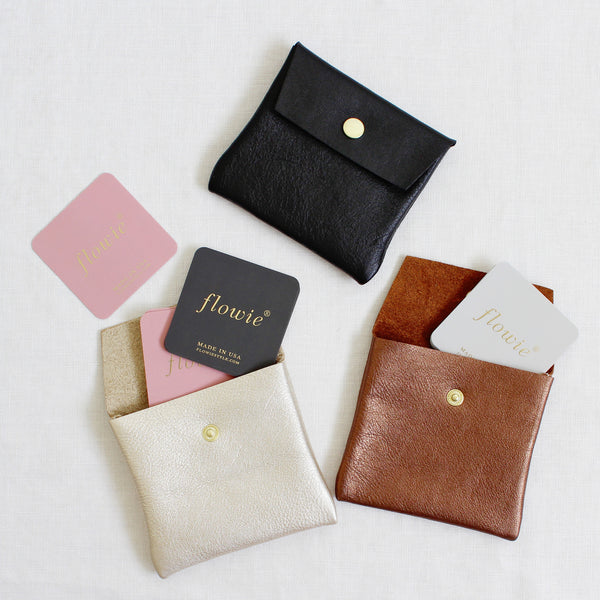 Small Leather Pouch (gold, bronze, black)