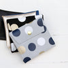 Small Suede Pouch, dots
