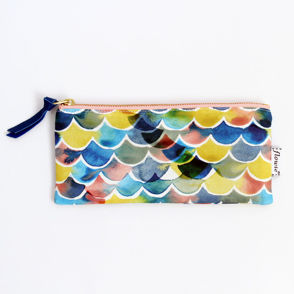 Pencil case pouch, Sunset ocean