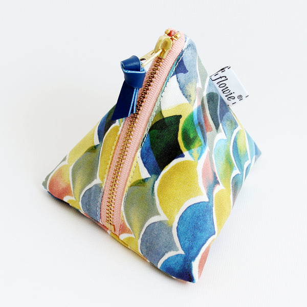 Triangle Zipper Pouch, Sunset ocean