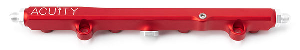 Honda K-Series billet aluminum fuel rail in red with -6AN k-swap fittings
