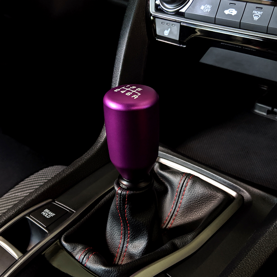 ESCO-T6 Shift Knob in Satin Purple Anodized Finish