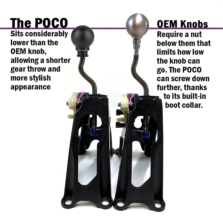 POCO Low-Profile Shift Knob in Satin Black Anodized Finish