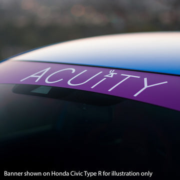 Matte Purple Windshield Banner