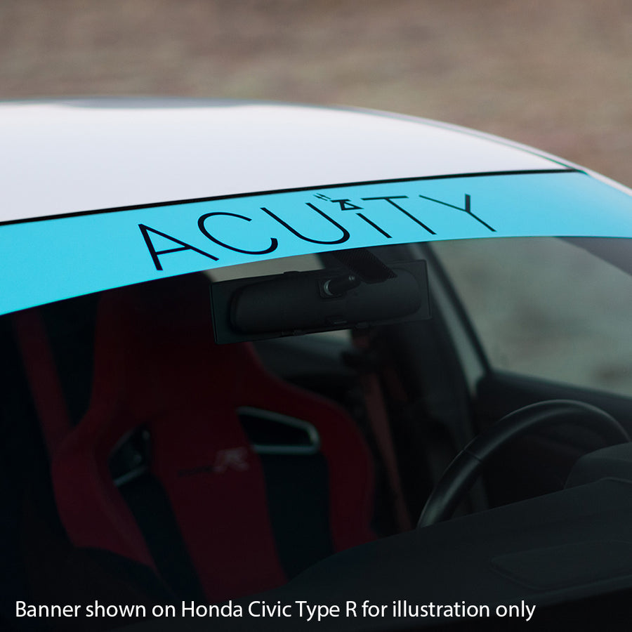 Matte Teal Windshield Banner