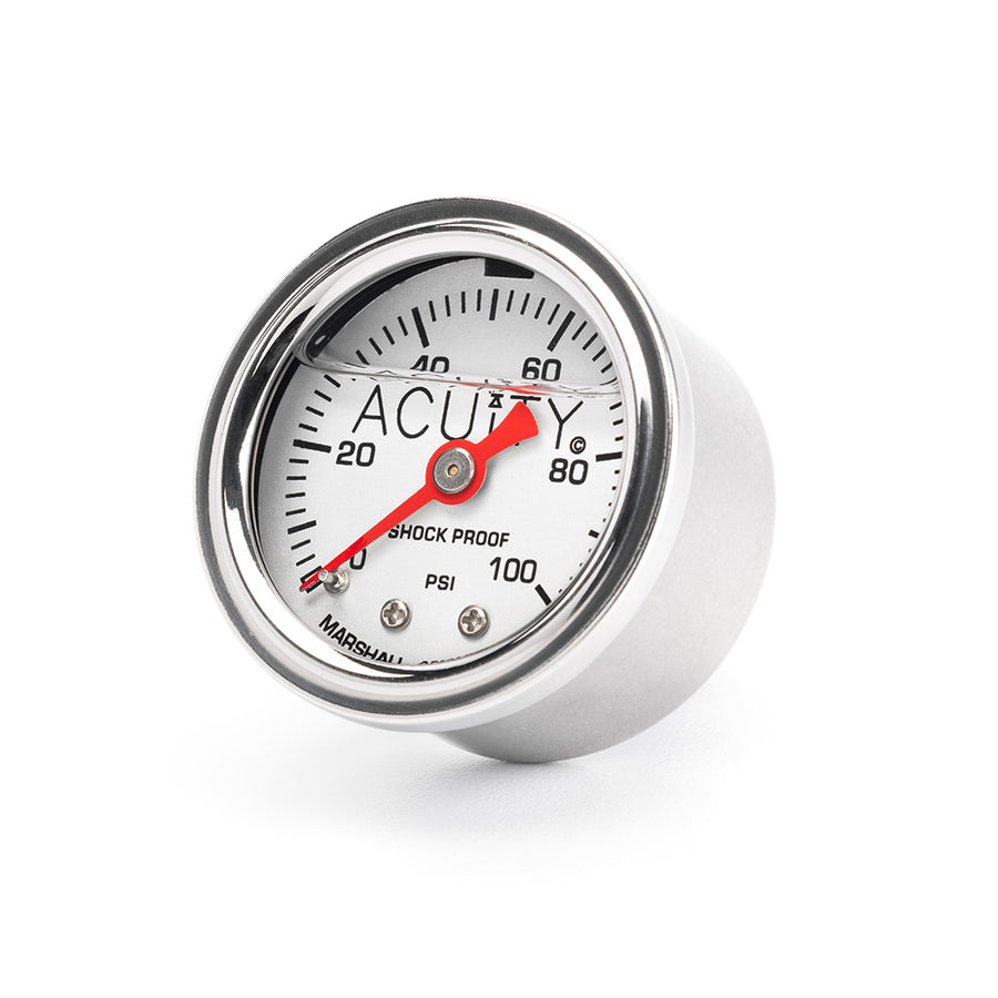 ACUiTY 100 PSI Fuel Pressure Gauge in Polished Stainless Finish