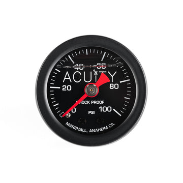 ACUiTY 100 PSI Fuel Pressure Gauge in Satin Black Finish