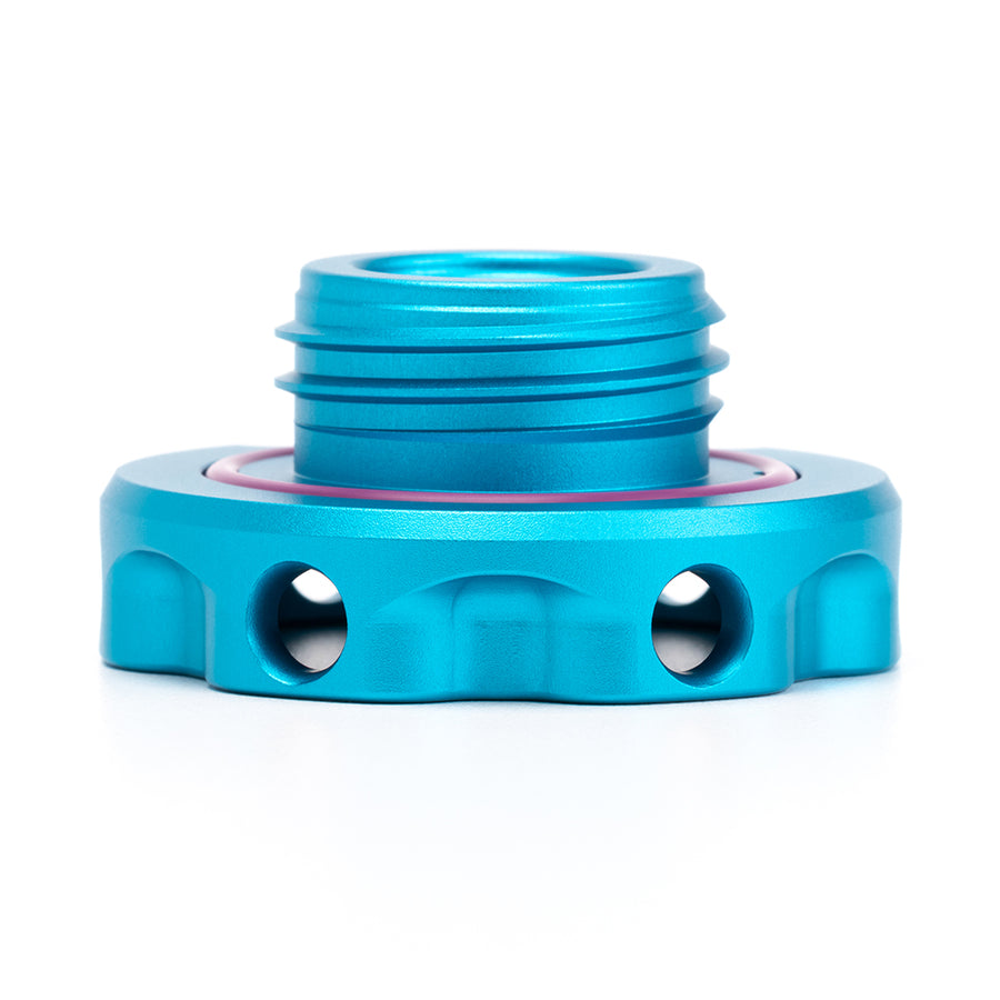 Podium Oil Cap in Satin Teal for Hondas/Acuras
