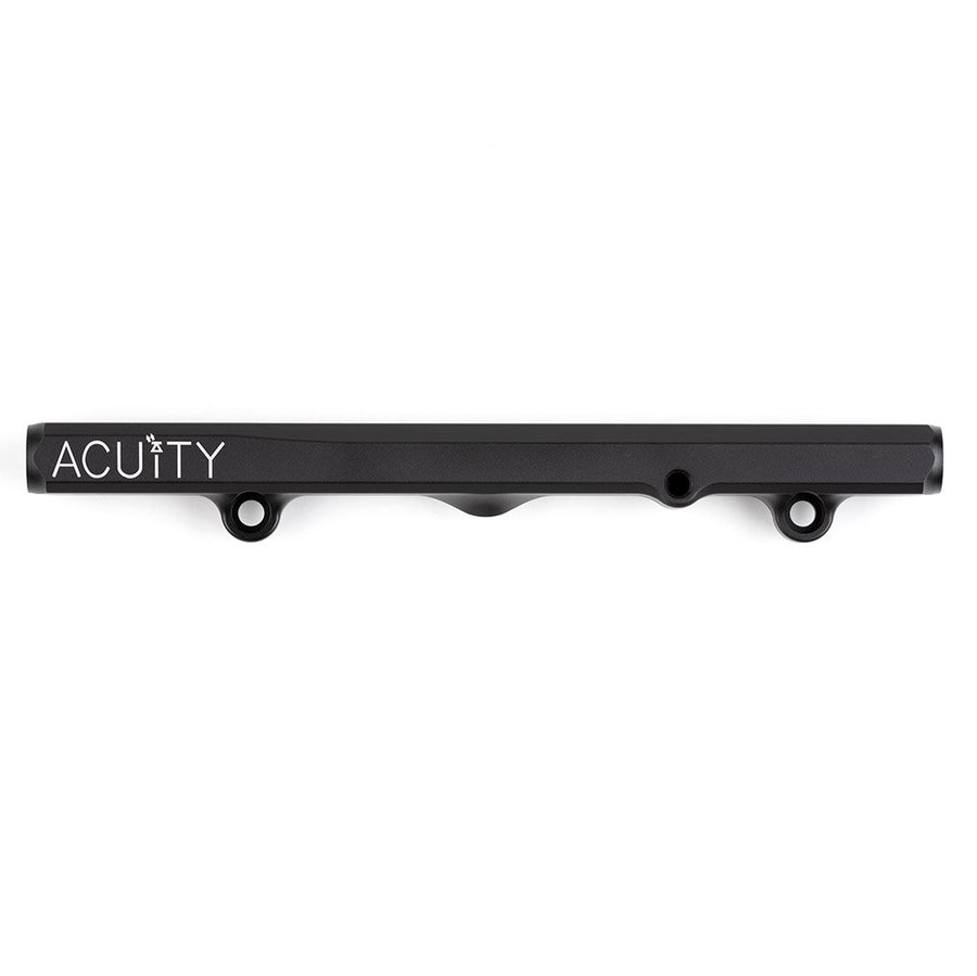 Top view of Fuel Rail in Satin Black Anodized Finish for Honda K-Series
