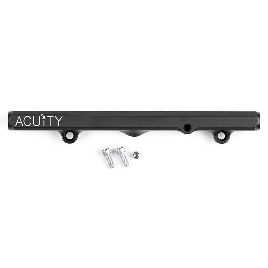 Acuity K-Series Fuel Rail in Satin Black Anodized Finish with mounting hardware