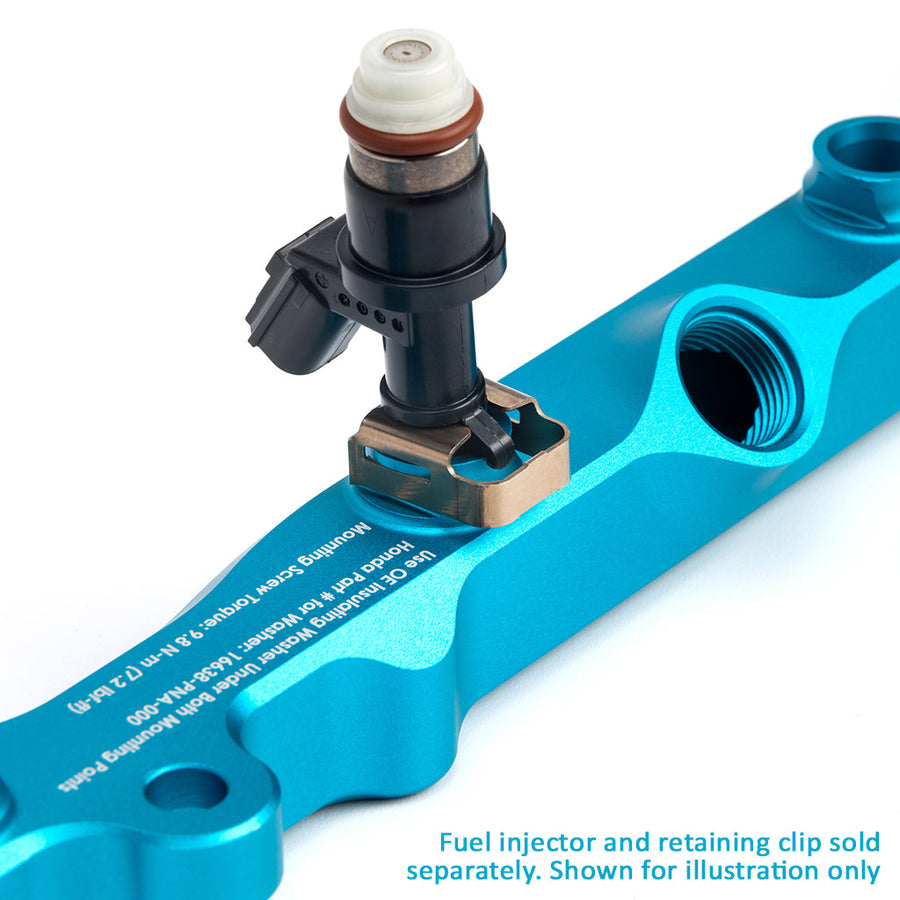 K-Series Fuel Rail in Satin Teal Finish