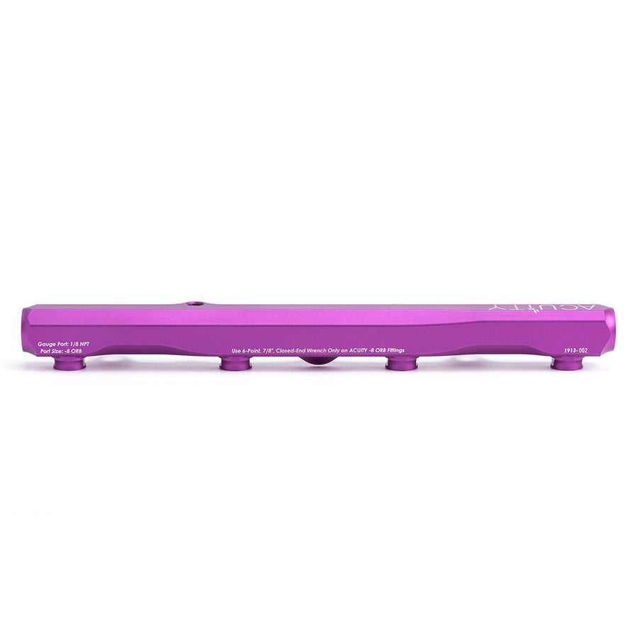 K-Series Fuel Rail in Satin Purple Finish