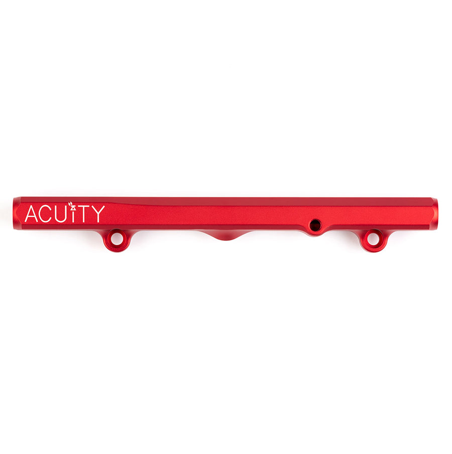 K-Series Fuel Rail in Satin Red Finish